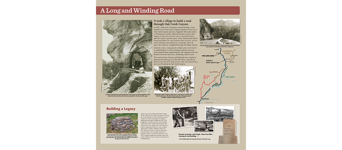 historical roads in Sedona