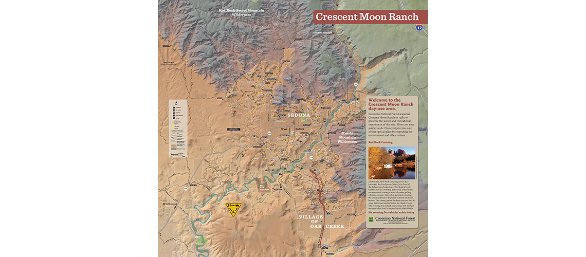 Crescent Moon map and interpretive sign