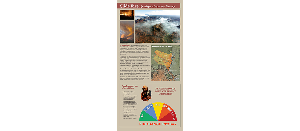 Sedona fire interpretive sign