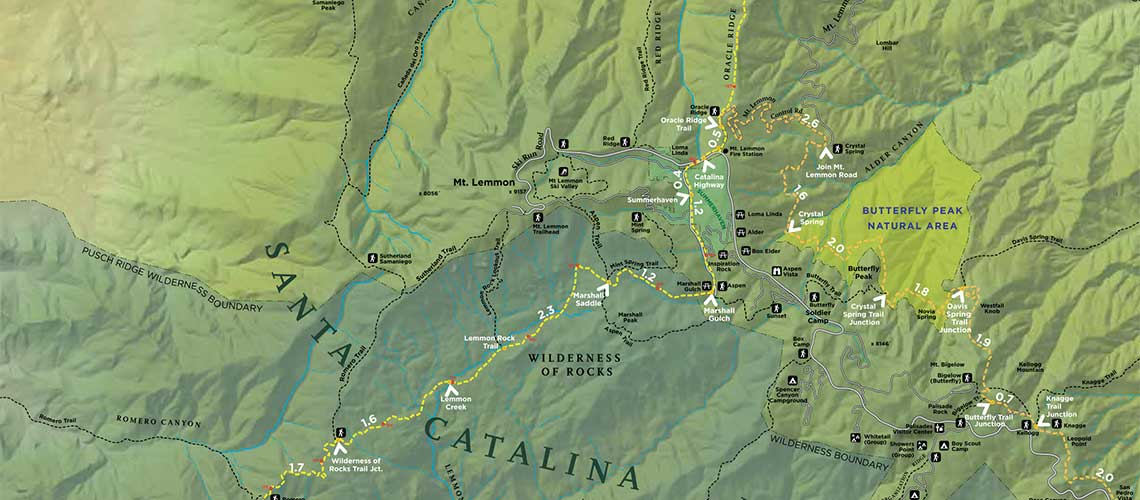 Arizona Trails kiosk map