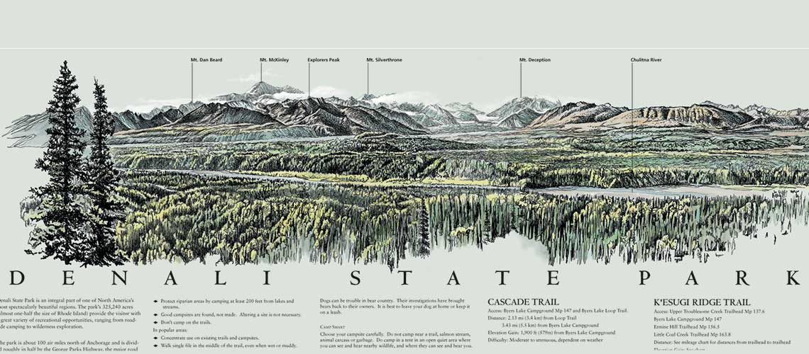 Denali State Park Map and Guide