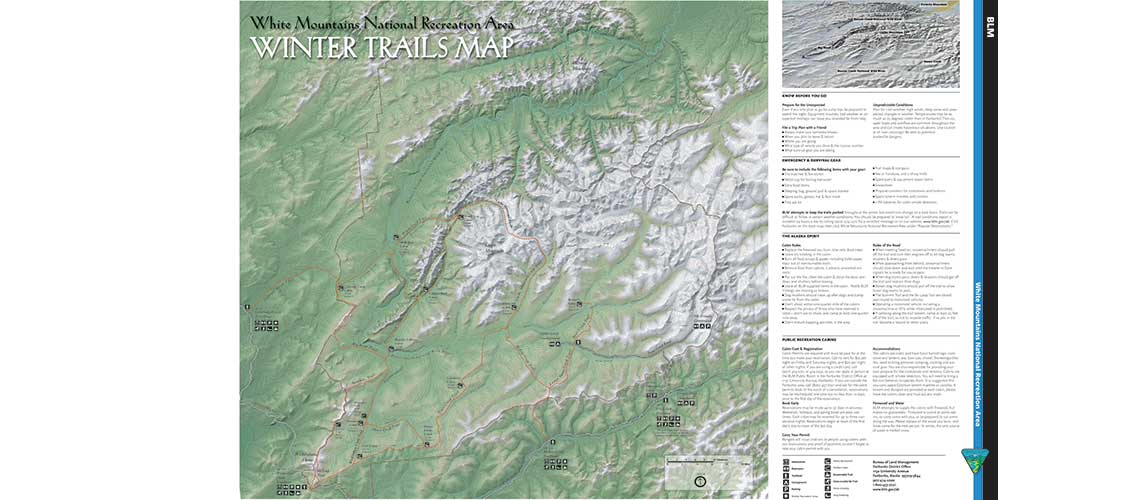 White Mountains Alaska kiosk map